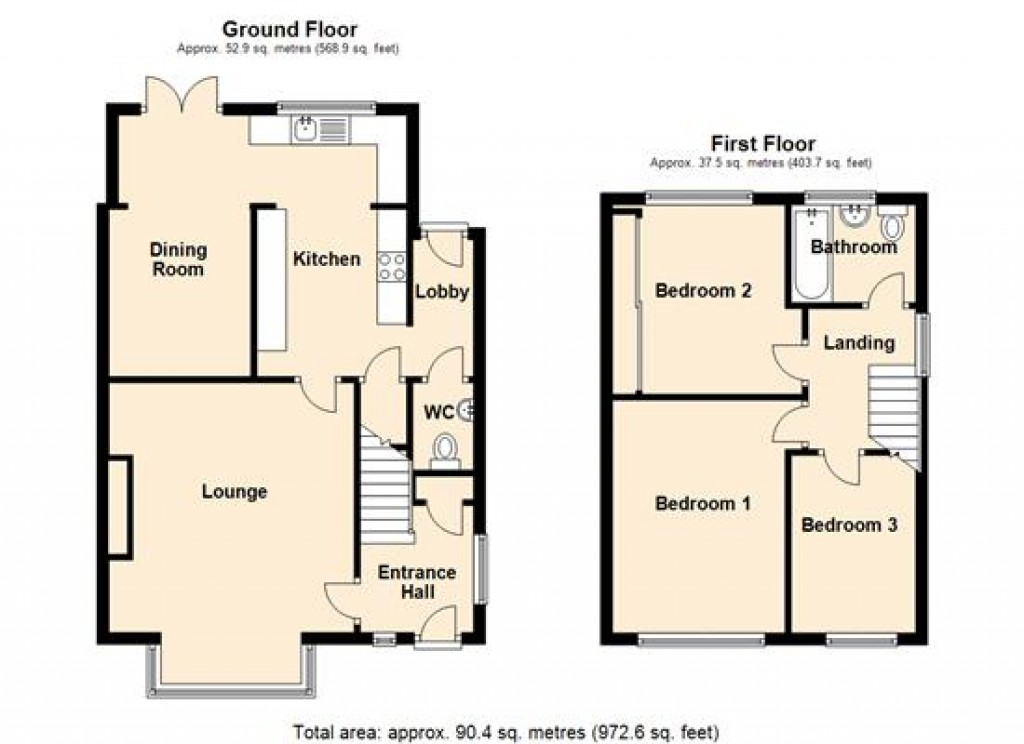 Floorplans For 60 Molescroft Park